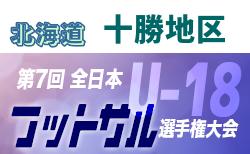 2019年度第31回全道U-18フットサル選手権大会 十勝地区予選(北海道)優勝は帯広柏葉!