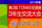 2019年度 第3回TOMAS交流会 東京都3年生サッカー交流会第9ブロック予選 1位は布田FC!
