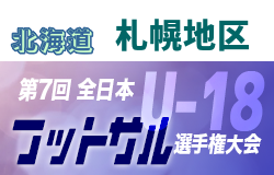 2019年度第31回全道U-18フットサル選手権大会 札幌地区予選(北海道)優勝は札幌大谷D!