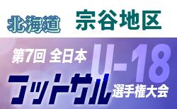 2019年度第31回全道U-18フットサル大会 宗谷地区予選(北海道) 優勝は稚内大谷高校!