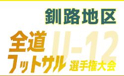 全道フットサル選手権2020 U-12の部 釧路地区予選(北海道)組合せ掲載!12/21,22開催!