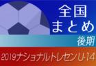 2019年度 ナショナルトレセンU-14 まとめ 後期メンバー掲載