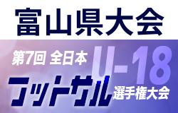 優勝はVIENTO!2020年度 JFA 第7回 全日本U-18フットサル選手権大会 富山県大会