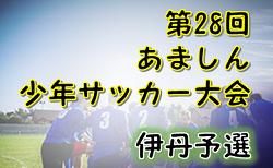 2019年度 第29回あましん少年サッカー大会 伊丹予選  (兵庫県)  1/5,12判明分結果 次戦1/25 情報お待ちしています!