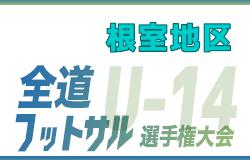 全道フットサル選手権2020 U-14の部 根室地区予選(北海道)優勝はNFCレグルスU-15!