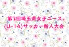 2019第7回埼玉県女子ユース(U-14)サッカー新人戦大会 優勝はちふれASエルフェン埼玉マリ!