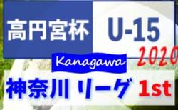 高円宮杯JFA U-15サッカーリーグ2020 神奈川 1stステージ 130チーム参戦!! 組合せ決定!! 2/2開幕!リーグ戦表準備できました!