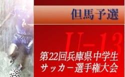 2019年度 第22回 但馬中学生サッカー選手権大会(U-13)兵庫 優勝はリベルテ・豊岡北!