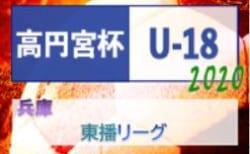 高円宮杯 JFA U-18サッカーリーグ2020 東播リーグ(兵庫) 2/15判明分結果 次戦は3/7,8