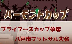 2019年度 第8回プライフーズカップ争奪八戸市フットサル大会(青森県)1/25結果速報!