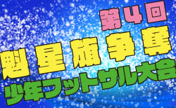 2019年度 第4回魁星旗争奪少年フットサル大会U-12(秋田県)1/25,26結果速報