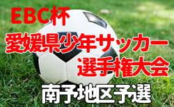 2019年度 第49回 EBC杯愛媛県U-12少年サッカー選手権大会 南予地区予選 組合せ掲載!2/1.2開催!