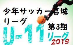 2019年度 少年サッカー葛城リーグU-11 第3期(奈良県開催) 組合せ掲載!2/22,24開催!