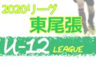 2020年度 西三河 U-12サッカーリーグ(愛知)  結果速報!情報お待ちしています!11/28,29