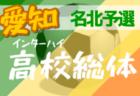 【大会中止】2020年度 第74回愛知県高校総体 サッカー競技 インターハイ 東三河支部予選  5月