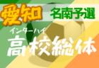 【大会中止】2020年度 第74回愛知県高校総体 サッカー競技 インターハイ 名北支部予選