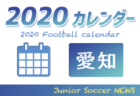 2020年度  サッカーカレンダー【愛知県】年間スケジュール一覧
