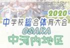 【大会中止】2020年度 大阪中学校サッカー選手権 北河内地区予選 6月