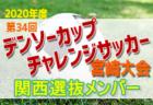 2019年度 第34回デンソーカップチャレンジサッカー宮崎大会 全日本選抜チームメンバー発表!
