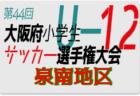 2020年度 第44回大阪府小学生サッカー選手権大会 泉北地区予選 5月 情報お待ちしています!