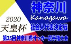 2020年度 第100回天皇杯 神奈川県予選 社会人代表決定戦 組合せ掲載!2/23開催!