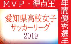 2019年度 愛知県高校女子サッカーリーグ MVP・得点王・年間優秀選手掲載!