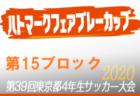 【大会中止】2020年度ハトマークフェアプレーカップ第39回 東京都4年生サッカー大会 7ブロック