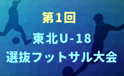 第1回東北U-18選抜フットサル大会2020 優勝は宮城県選抜!