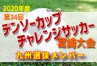 2019年度 第34回デンソーカップチャレンジサッカー 宮崎大会 中国・四国選抜選抜チームメンバー発表!