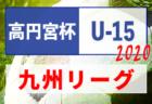 2020年度 高円宮杯 JFA U-15サッカーリーグ 2020 九州 結果入力ありがとうございます!次節10/4