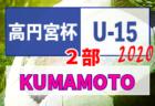 2020年度 高円宮杯 JFA U-15サッカーリーグ熊本 1部 結果速報おまちしてます!次節8/8開催予定