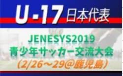 高体連からは3名選出!【U-17日本代表】メンバー・スケジュール発表! JENESYS2019 青少年サッカー交流大会(2/26~29@鹿児島)