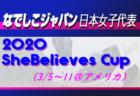 【なでしこジャパン(日本女子代表)】メンバー・スケジュール発表!2020 SheBelieves Cup (3/5~11@アメリカ)