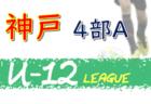 2020年度 神戸市サッカー協会U-12少年サッカーリーグ3部B (兵庫県) 8/1,2結果速報