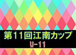 2019年度 第11回江南カップ U-11 (宮崎県) 組合せ掲載! 3/7.8