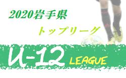 2020年度  JFA U-12サッカーリーグ岩手トップリーグ  盛岡(北エリア)8/8,9,10結果一部更新!情報お待ちしています