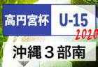 次節延期 2020高円宮杯九州ユース(U-15)サッカーリーグ 沖縄