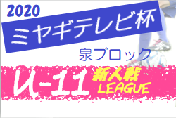 【大会方式変更】2020年度 ミヤギテレビ杯新人大会 (宮城県)  泉ブロック予選