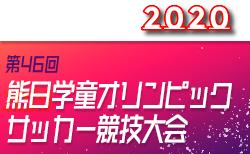 2020年度 第46回 熊日学童オリンピックサッカー競技大会(熊本) 6/13開幕 6/6抽選会 !