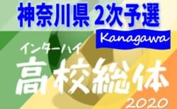 2020年度 全国高校総体 (インターハイ) 神奈川県予選 2次予選 組合せ決定!6/7開幕!