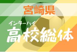 【大会中止】2020年度第47回宮崎県高校総体大会サッカー競技(男子) インターハイ予選