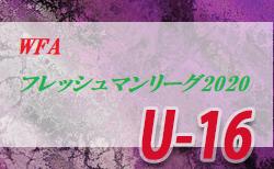 第13回 WFA U-16フレッシュマンリーグ2020(和歌山)7/16~開幕!判明分結果更新 情報提供お待ちしています