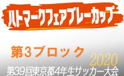 【大会中止】2020年度ハトマークフェアプレーカップ第39回 東京都4年生サッカー大会 3ブロック