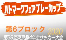 【大会中止】2020年度ハトマークフェアプレーカップ第39回 東京都4年生サッカー大会 6ブロック