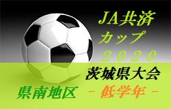 【大会中止】2020年度 JA共済CUP第47回 茨城県学年別少年サッカー大会茨城県大会 県南地区大会<低学年の部>情報お待ちしています!
