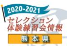 2020-2021 【鳥取県】セレクション・体験練習会 募集情報まとめ