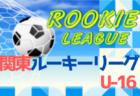 2020年度 関東Rookie League U-16 全リーグ9/27までの結果掲載&日程表更新!次は10/3.4