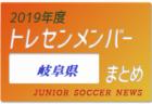 2019年度 愛知県 トレセンメンバー