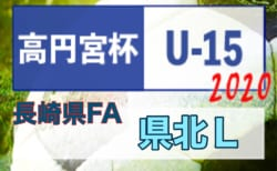 2020年度 高円宮杯JFA U-15サッカーリーグ2020長崎県FA 県北リーグ 一部結果掲載!続報お待ちしています!