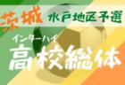【大会中止】2020度 全国高校総体サッカー競技 県東地区予選(茨城)